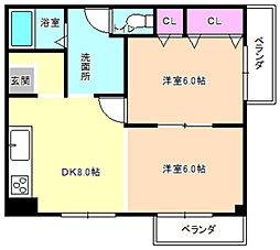 レオハイム高塚[3階]の間取り