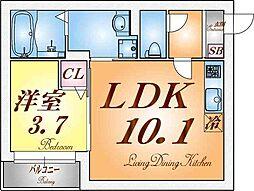 兵庫県神戸市須磨区小寺町2丁目の賃貸アパートの間取り