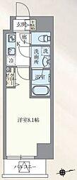 東京メトロ丸ノ内線 本郷三丁目駅 徒歩7分の賃貸マンション 13階1Kの間取り
