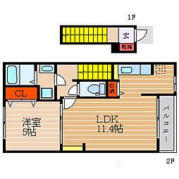セレノ福満[2階]の間取り