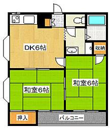 東京都足立区谷在家3丁目の賃貸アパートの間取り
