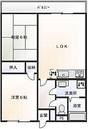 ニューウェーブマンション 3階2LDKの間取り