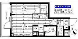 小田急小田原線 経堂駅 徒歩9分の賃貸マンション 4階1DKの間取り