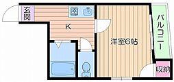 Osaka Metro中央線 九条駅 徒歩5分の賃貸マンション 5階1Kの間取り