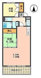 愛知県長久手市東狭間の賃貸マンションの間取り