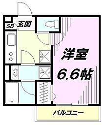 東京都八王子市元横山町2丁目の賃貸アパートの間取り