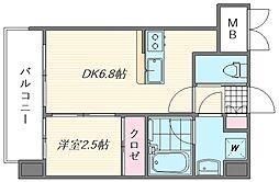 ラ・エスパシオ箱崎[402号室]の間取り