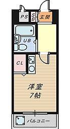 ラ・メゾンデ堺[3階]の間取り