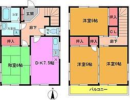 [一戸建] 千葉県船橋市金杉6丁目 の賃貸【/】の間取り