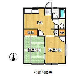 塩脇ハイツA[2階]の間取り