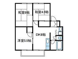 神奈川県綾瀬市小園南2の賃貸アパートの間取り