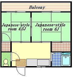 第5山崎ハイツ[2階]の間取り