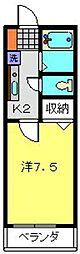 ベル・エキップ常盤台[203号室]の間取り