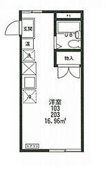 エステートピアMIKIII[1階]の間取り