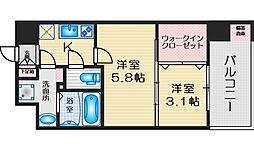 セレニテ江坂ルフレ 8階2Kの間取り