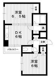 東京都練馬区豊玉南3丁目の賃貸マンションの間取り