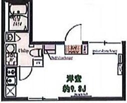 プラチナフォルム中延WEST 地下4階ワンルームの間取り