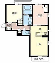 南海高野線 北野田駅 徒歩7分の賃貸マンション 3階1SLDKの間取り
