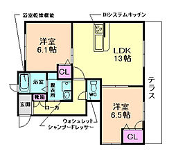 兵庫県川西市矢問1丁目の賃貸アパートの間取り