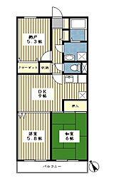 サンクレストKAWADA2[102号室]の間取り