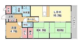エクセール松原[1階]の間取り