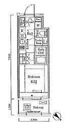 JR山手線 大崎駅 徒歩7分の賃貸マンション 8階1Kの間取り