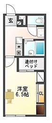 愛知県豊川市一宮町下新切の賃貸アパートの間取り