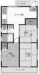 第二正実荘[201号室]の間取り