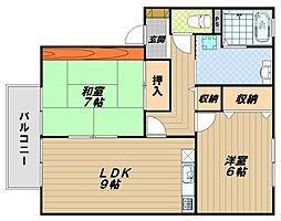 セジュールME伊藤[1階]の間取り