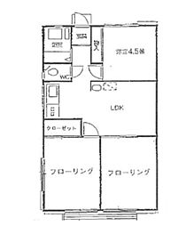 東京都立川市富士見町2丁目の賃貸マンションの間取り