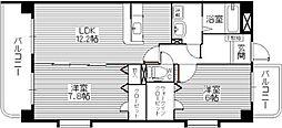 コスモ松島[202号室]の間取り