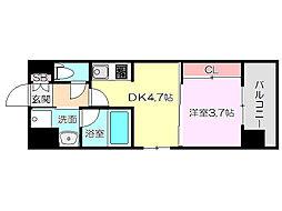 ライブガーデン新大阪II[3階]の間取り