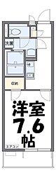 SATSUKI 1階1Kの間取り