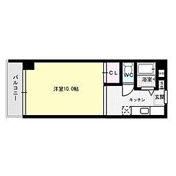 レジデントハウスP-2[3階]の間取り