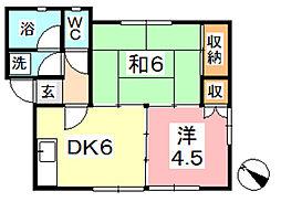 コアSK[1階]の間取り