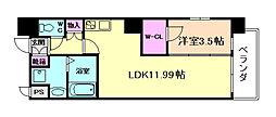 M:COURT福島 3階1LDKの間取り