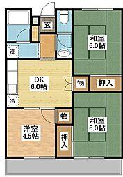 長崎県長崎市泉2丁目の賃貸マンションの間取り