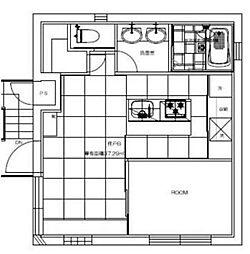 東京メトロ千代田線 明治神宮前駅 徒歩9分の賃貸マンション 2階1LDKの間取り
