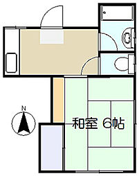 楓荘[102号室]の間取り
