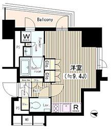 東京メトロ有楽町線 江戸川橋駅 徒歩2分の賃貸マンション 2階ワンルームの間取り