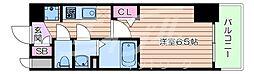 Osaka Metro御堂筋線 天王寺駅 徒歩11分の賃貸マンション 3階1Kの間取り