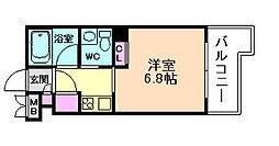 大阪府大阪市北区西天満4丁目の賃貸マンションの間取り