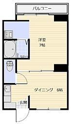 ヴィラナリー児島 2号棟[208号室]の間取り