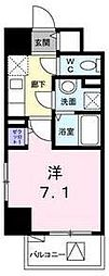 JR武蔵野線 新座駅 徒歩6分の賃貸マンション 3階1Kの間取り