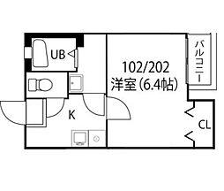 クレフラスト香椎駅東IIC棟[102号室]の間取り