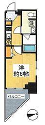 都営大江戸線 大門駅 徒歩1分の賃貸マンション 7階1Kの間取り