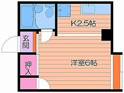 小川ハイツ[3階]の間取り