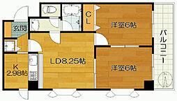 第23新井ビル[303号室]の間取り