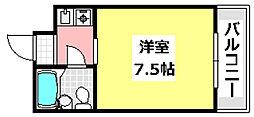 JR東海道・山陽本線 JR総持寺駅 3.6kmの賃貸マンション 3階1Kの間取り