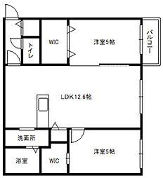 北海道札幌市白石区南郷通14丁目北の賃貸マンションの間取り